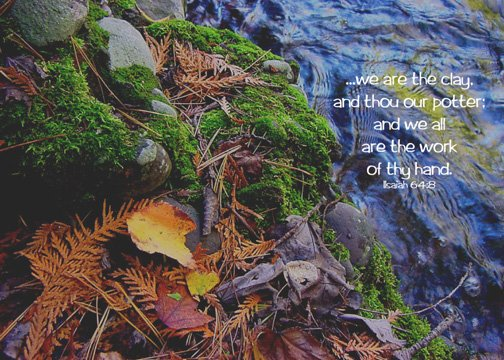 "Fall Collage**8""x10"" Matted Original Photo**Isaiah 64:8"