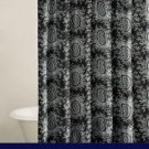 Tommy Hilfiger BLACK WHITE PAISLEY Shower Curtain Toile NEW