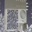 KENAR Purple White Gray FLORAL Shower Curtain NEW Daisy