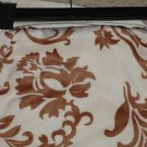 Cream Tan Brown DAMASK Thro Soft Blanket Throw NEW