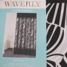Waverly Curvature BLACK WHITE Shower Curtain NEW