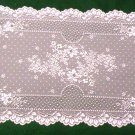 Floret Lace Table Runner 14 Inches x 38 Inches White