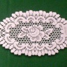 Rose Lace Doily 8 Inches x 14 Inches Off White Set Of (2)