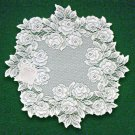 Doilies Tea Rose  Doily White Lace 15 Inches R Set Of (2)