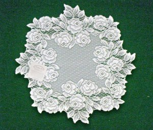 Doilies Tea Rose  Doily White Lace 15 Inches Round