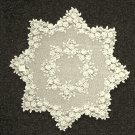 Tea Rose Table Topper 42 Round Ecru Heritage Lace