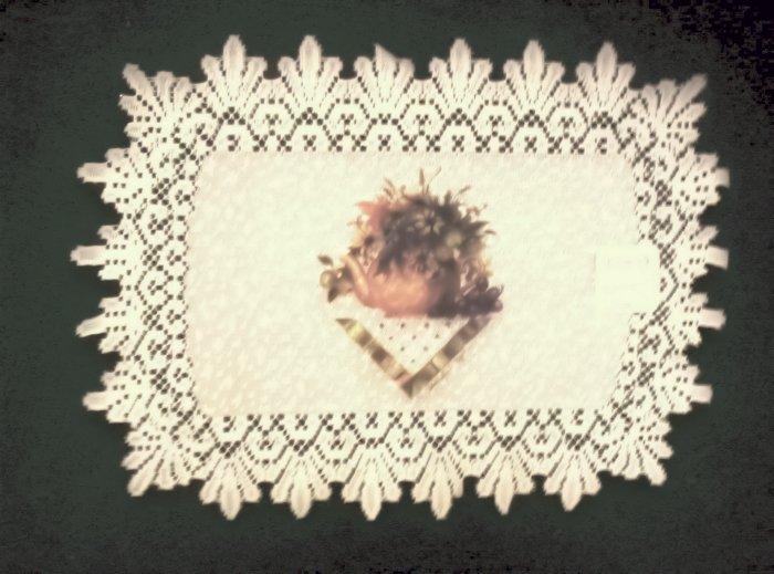 Placemats Heritage Lace Abundant Blessing Placemat 14 x 20 Ecru Set Of (4))