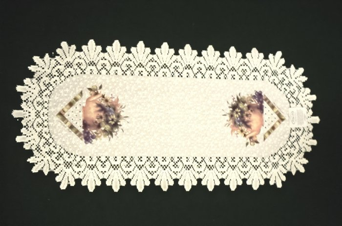 Table Runners Abundant Blessings Table Linens Ecru 14x30 Heritage Lace