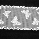 Butterflies Table Runner 12 x 54 Heritage Lace White