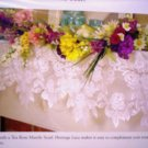 Mantle Scarf Tea Rose 20 x 90 Ecru Mantel Scarf  Heritage Lace