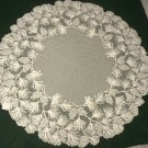 Table Toppers Woodland Table Topper 48 Round Ecru Heritage Lace