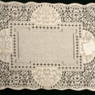 Canterbury Classic  Placemat 14 x 19 Ecru Heritage Lace Set of (4)