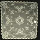 Floret Table Topper 36 x 36 Ecru Heritage Lace