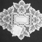 Heirloom Doily 12 x 9 White