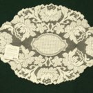Windsor  Lace Placemat 14 x 20 Ecru Heritage Lace Set Of (4)
