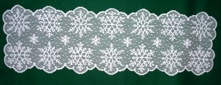 Table Runners Snow Table Linens 14 x 48 White Heritage Lace