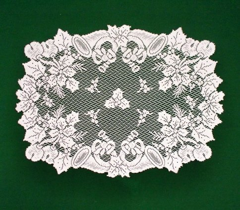 Doilies Horns and Holly Doily 20x28 Heritage Lace Set Of (2)