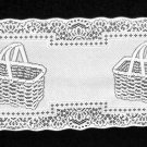 Adorable Picnic Basket Table Runner White 14 x 35 Inches