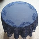 Heritage Lace Elizabeth Table Topper 42 Inches Round Indigo