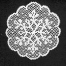 Doilies Snow Pattern Doily White 11 Round  Heritage Lace