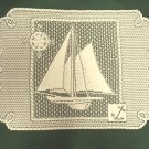 Set Sail Placemat/Doily 14 x 20 Ecru Heritage Lace Set Of (4)