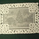 Placemats Battenburg Lace Winter Scene Placemat 14 x 19 Ivory Set Of (4)