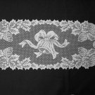 Exquisite Bells and Holly Table Runner 14 x 36 White