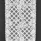 Lovely Trellis Rose Table Runner 15 x 54 White Oxford House Collection
