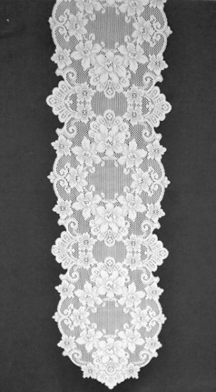 Table Runners Cleremont 14 x 72 White Lace Runner Heritage Lace