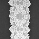 Table Runners Cleremont Table Linens 14 x 72 White Heritage Lace