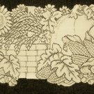 Table Runner Harvest Give Thanks 14 x 36 Cafe Color Table Runner Heritage Lace