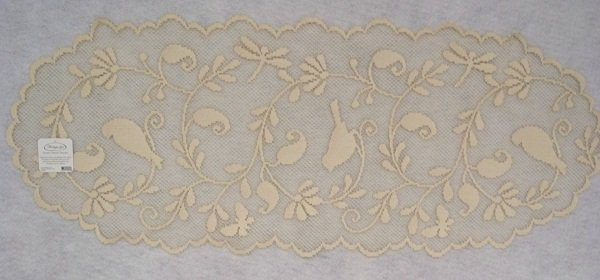 Heritage Lace Bristol Garden Table Runner 14 x 36 Cafe Color