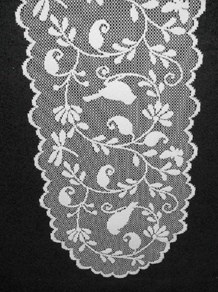 Table Runners Bristol Garden Table Runner 14 x 60 White Heritage Lace