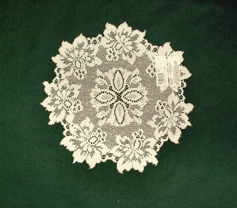 Savoy Doily 13 Inches Round Ivory Set Of (2) Heritage Lace