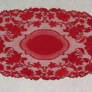 Gorgeous Windsor Table Runner Cardinal Red 15 x 32 Heritage Lace