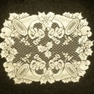 Placemats  Horns and Holly 14 x 19 Ivory Heritage Lace Set Of (4)