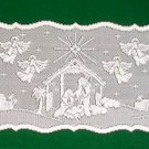 Table Runners Heritage Lace Nativity Table Runner 14x52 White