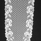 Cottage Rose 14 x 62 White Table Runner Heritage Lace