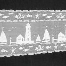 Heritage Lace Harbor Lights Table Runner Vibrant White 14 x 62 Stunning