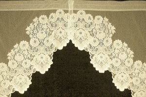 Curtains Cleremont Swag Pr Ivory  60 x38 Drop Heritage Lace