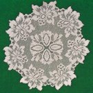 Doily Savoy 13 R Silver Lame Set Of (2) Doilies Heritage Lace