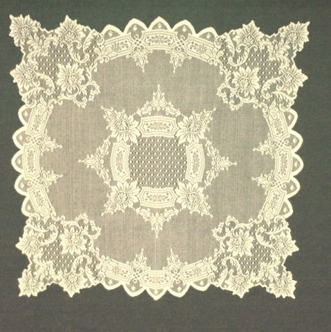 table topper simply devine lace table linens 29 x 29 ivory