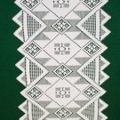 Table Runner  Quilt Square/Aztec Lace Table Runner 14 x 72 White