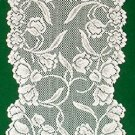 Just The Prettiest Dutch Garden Table Runner 14 x 72 White