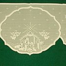 Nativity Mantle Scarf Ivory 20x94 Heritage Lace