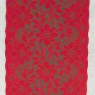 Lace Runners Poinsettia 13x36 Red Over Green Heritage Lace