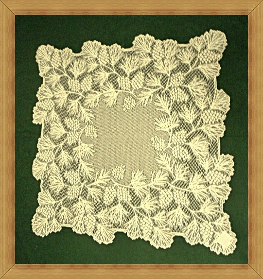 Woodland 36 x 36 Table Topper Ecru Heritage Lace