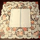 Autumn Elegance Table Topper 34x34 Ceam Heritage Lace