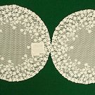 Lace Doilies Blossom 12 Inch Round Ivory Set Of 2