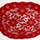 Placemats Poinsettia Christmas Red 14x18 Oxford House Set Of (4)